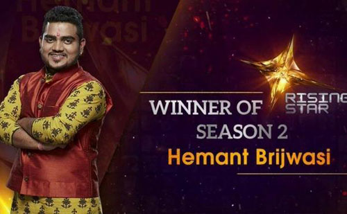 Hemant Brijwasi Rising Star season 2 winner